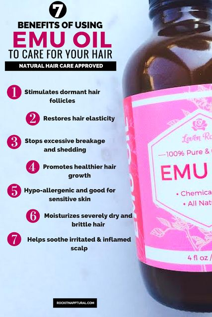 The Benefits of Using Natural Emu Oil for Increased Hair Growth via Rock It Napptural