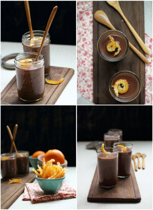 velvety chocolate pudding w/ orange candied peels! (recipe) #recipe #chocolate #dessert #pudding #orange