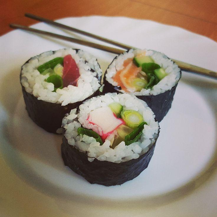 Sushi hand made.