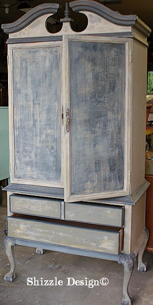 French Country Armoire Hand Painted By Shizzle Design ~ Available Soon In  Holland, Michigan ~