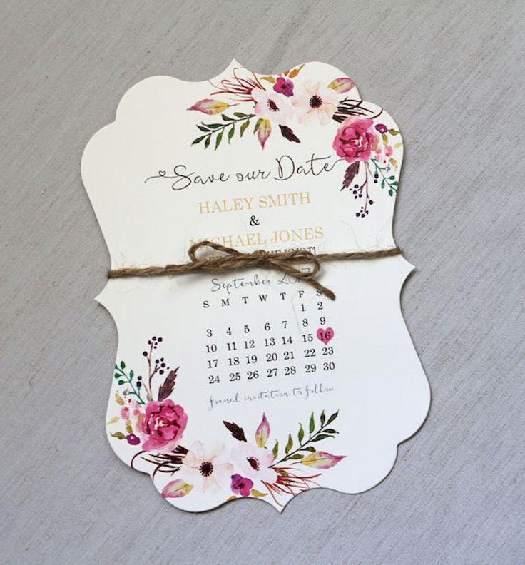 34 Beautiful Floral Wedding Invitation Ideas 126