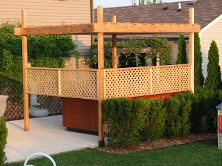 hot tub privacy ideas | The Broke Homeowners - Home Improvement Projects: Hot tub pergola