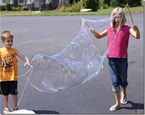 DIY a giant bubble wand.