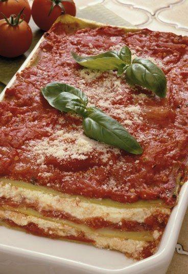 Receta: Lasaña vegetariana con queso cottage - 10 recetas vegetarianas rápidas y sencillas