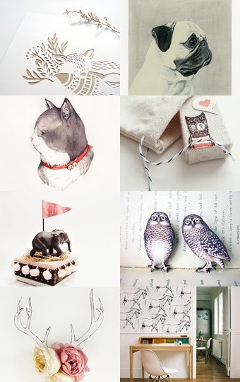 Lovely Treasury List -Love Animal- curated by Rui Weng--Pinned with TreasuryPin.com