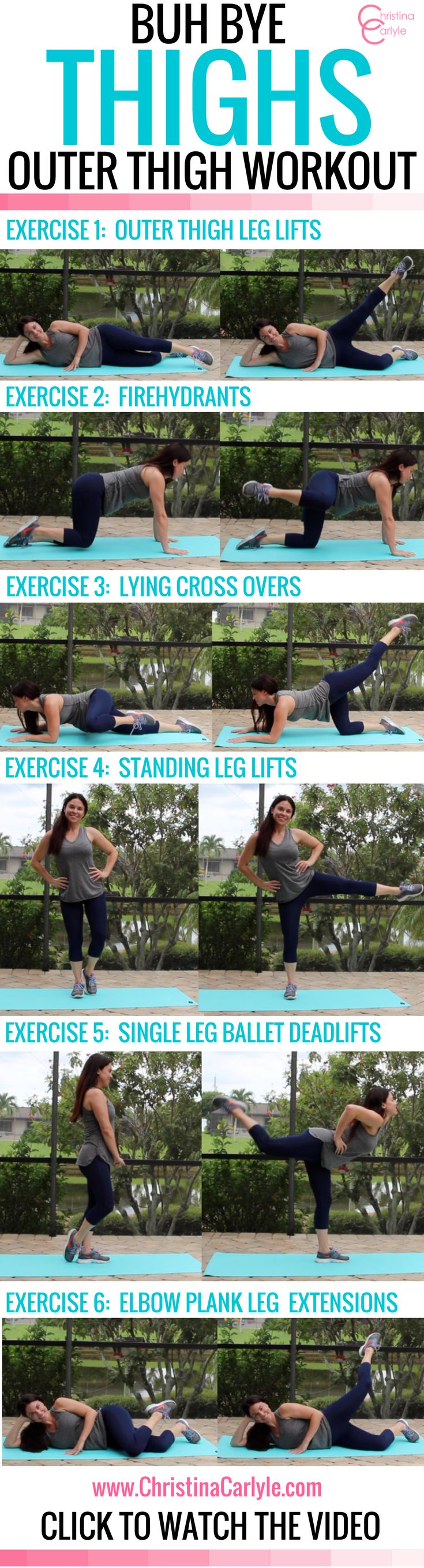 Do your thighs make you self-conscious? If so, you're going to love the thigh Exercises in this Outer Thigh Workout for women. They really work!