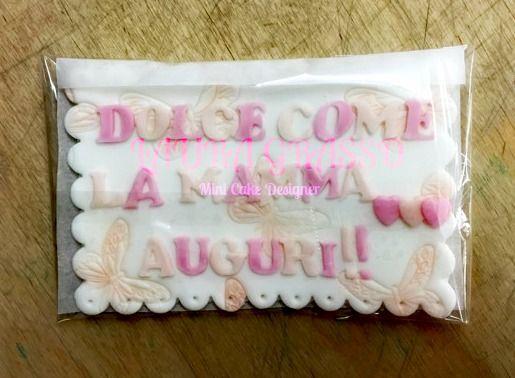 Targhetta per la festa della mamma in pasta di zucchero