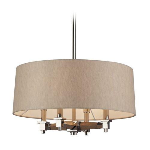 modern drum pendant lights in polished nickel finish destination lighting