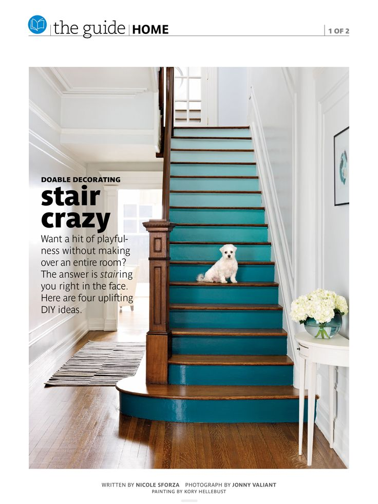 awesome blue stairs