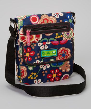 Take a look at this Navy Floral Crossbody Bag by Upcycled & Recycled: Accessories on @zulily today!