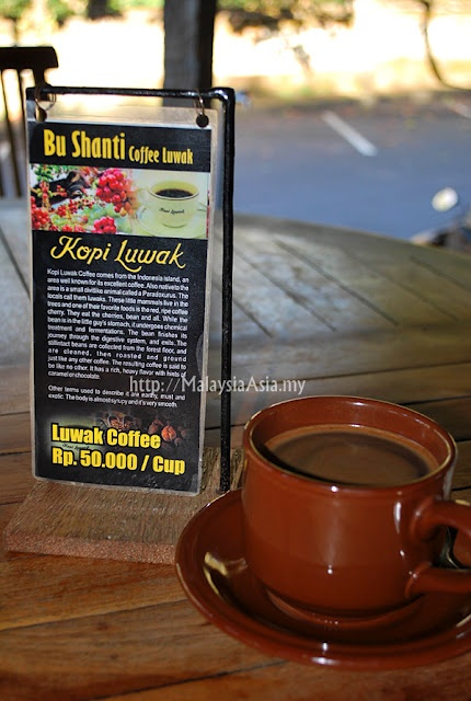 Kopi Luwak Coffee - yes I have had a couple of cups of the most expensive coffee in the world. It was delicious, mild and creamy
