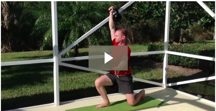 Learn how to master the Kettlebell Turkish Get Up in 7 simple steps. Discover Turkish Get Up workouts, videos, variations, benefits and more!