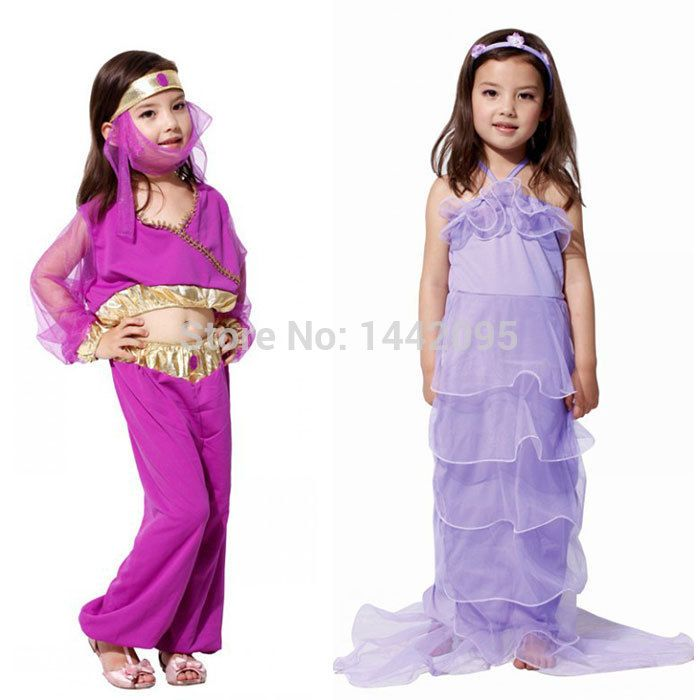 Halloween Princess Costume Fantasia Infantil The Little Mermaid Costume For Kids Carnival Princess Jasmine Costume For Girls-in Costumes from Apparel & Accessories on Aliexpress.com | Alibaba Group