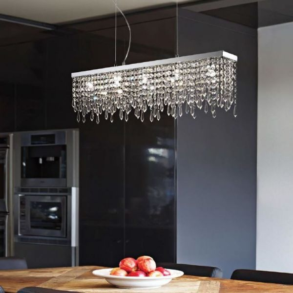 ideal lux kristall pendelleuchte giada clear esstisch lampe leuchte esstisch lampe esstisch