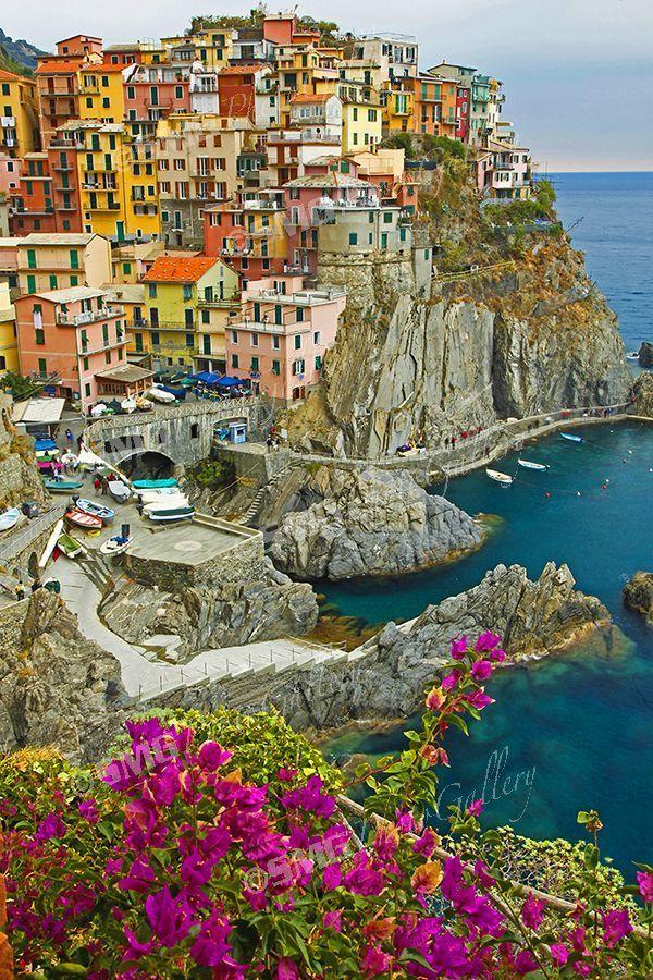Manarola Cinque Terre Photography Corniglia Set of 4 Prints Riomaggiore Gallery Wall Set Vernazza