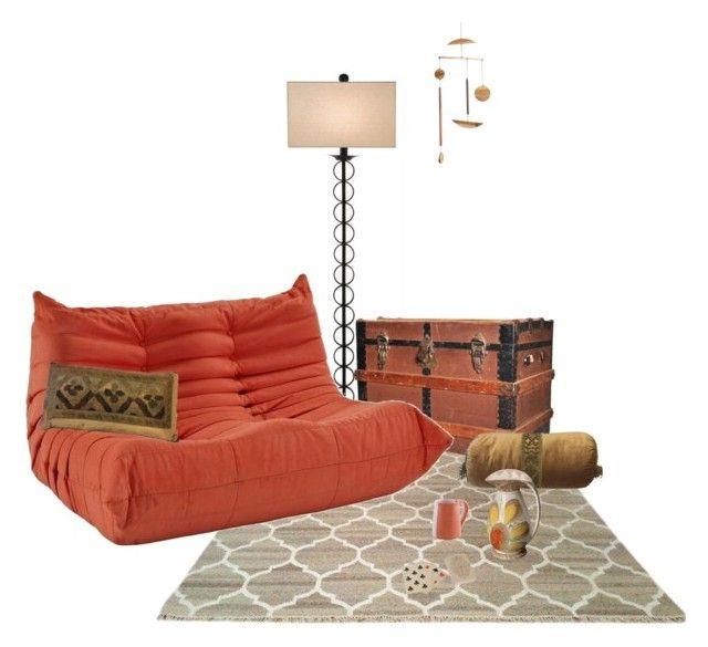 Cozy corner by perpetto on Polyvore featuring interior, interiors, interior design, dom, home decor, interior decorating, Currey & Company and NOVICA