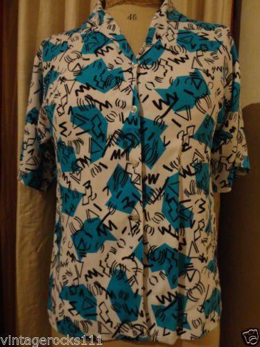 Ladies Vintage Blouse/Shirt 1950s Size 10 Rockabilly | eBay