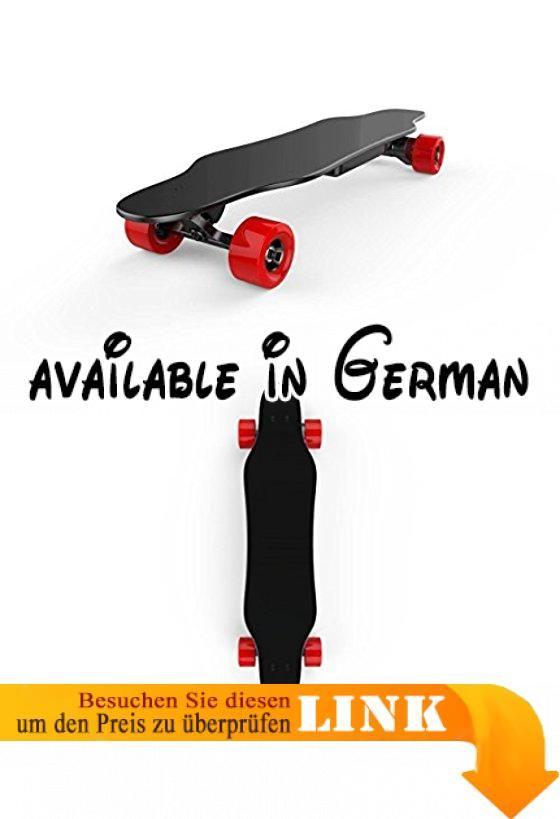 Skateboard electric Jin Shang 94cm-lagiges Deck aus Ahorn Custom PU Wheel Brushless DC Motor, Red Wheel. Stabile Deck: Die Deck ist hergestellt mit acht Lagen Ahornholz um lange halten, die maximale Belastbarkeit bis zu 130kg.. Schnell und sicher: die Rollen sind aus High Performance PU, super-glatte PU-Räder ermöglicht sie zu skaten ohne Erschütterungen, während sicher Picking UP Speed.. Praktischer: Dieser komplett fertig montiert Elektro-Skateboard ist für Ihre