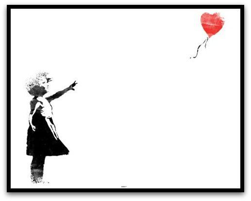 """Framed Banksy Print """"Red Balloon Girl"""""""