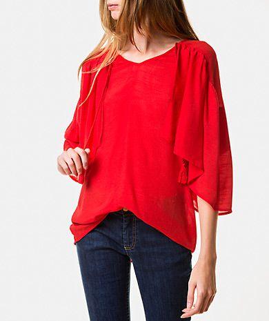 Blusa fruncida Blusas | LANIDOR.COM - Mobile Shop Online