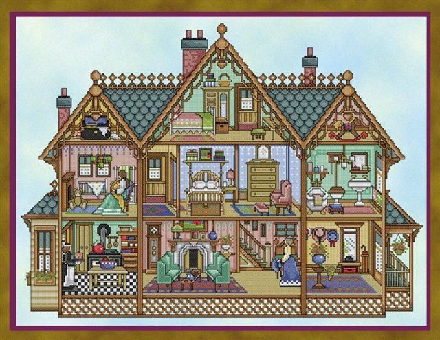 Joan Elliott's 'Victorian Dollhouse': My mum seems to think she had a doll's house when she was younger, which may explain my fascination for them.