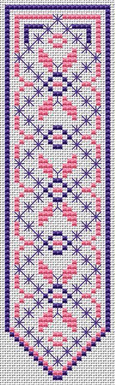 Bookmark free cross stitch pattern