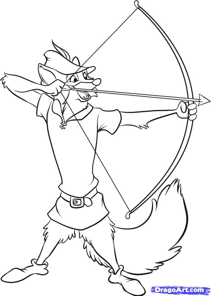 Coloring Pages To Draw : How to draw disneys robin hood in easy steps google
