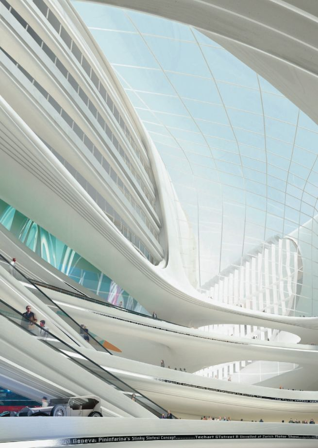 """Zaha Hadid Architects — """"FREITAG"""": The Circle at Zurich Airport - Divisare by Europaconcorsi"""