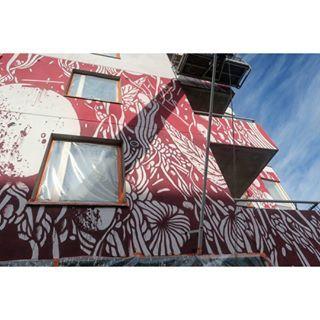 Close-up, TELLAS @ UPEA16 HELSINKI  #TELLAS #UPEA16 #Helsinki #Nuorisosäätiö #Hämeenrakennuskone #Suvilahti #UPEAsyyskuu #katutaide #taidettakaupunkiin #katutaidesuomessa #muraali #katutaidefestivaali #streetart #streetarthelsinki #streetartfestival #mural #tikkurila #värienvoimaa #dripitfi @tellas222 @dripit_fi @tikkurila_suomi @Nuorisosaatio katutaide.com