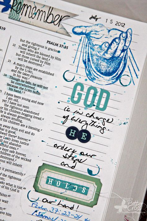 Triple the Scraps: {SCRLLC14} Scripture Lesson #16, His Strength is Perfect