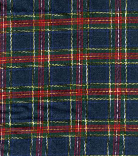 Plaid Flannel Fabric Royal Stewart