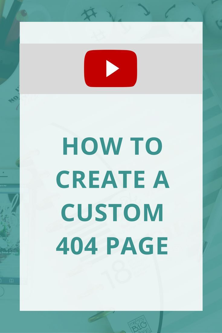 Creating a custom 404 page could really reduce your bounce rate on your website! Learn how to create a custom 404 page with this tutorial.
