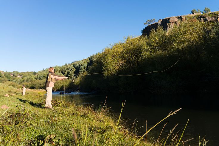 Base yourself at Semonkong Lodge and fish the Maletsunyane River above the waterfall for Brown Trout, with a local Fishing Guide who will take you to where the fish are. www.semonkonglodge.com