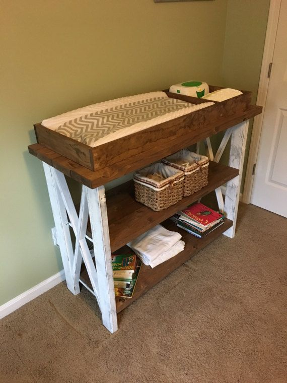 This Is A Handcrafted Rustic Wooden Baby Changing Table Made From