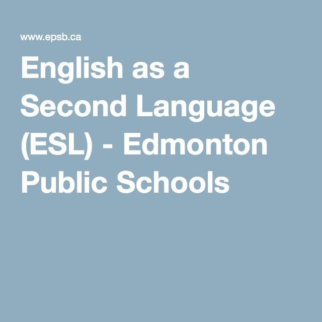 English As A Second Language Esl Edmonton Public Schools