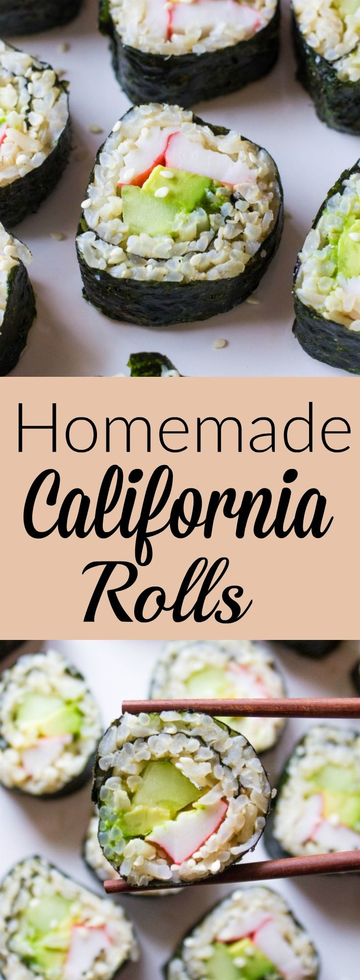 Homemade California Roll// Kathryn's Kitchen Blog