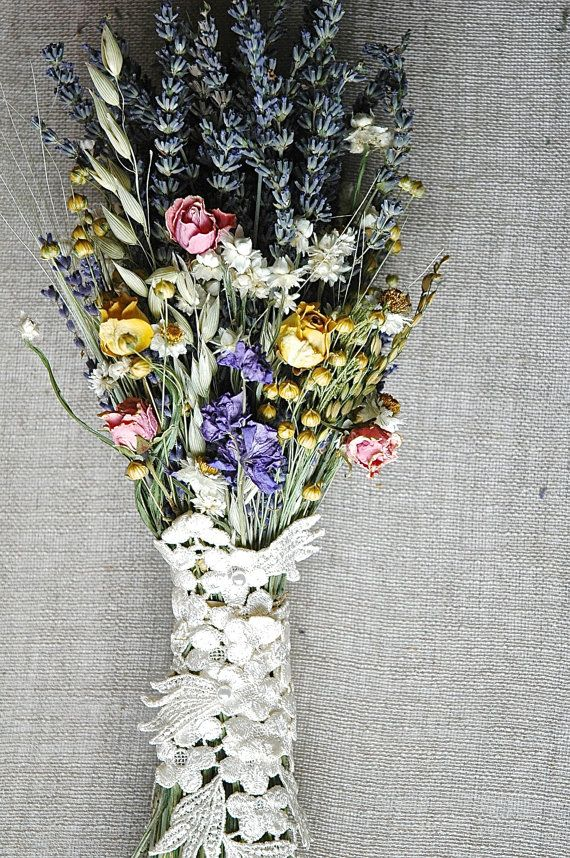 Pastels and Lace Spring Meadow Brides Bouquet by paulajeansgarden, $33.00
