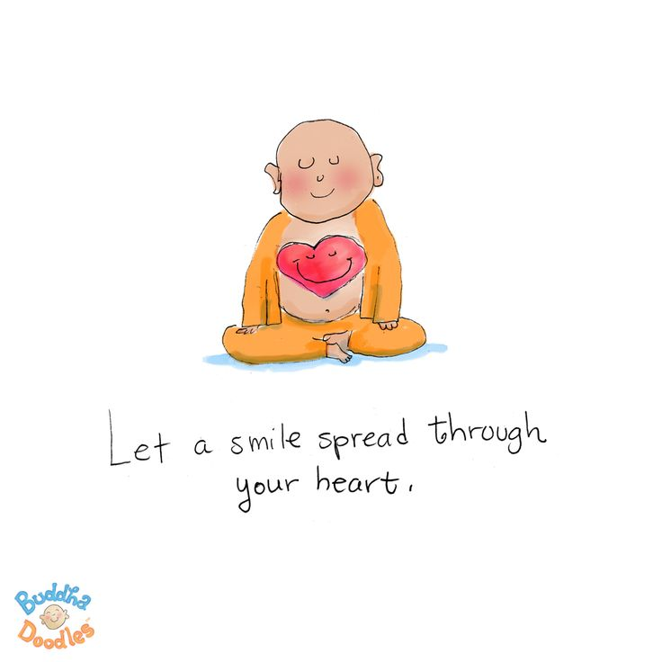 {Buddha Doodle}: Let a smile spread through your heart...