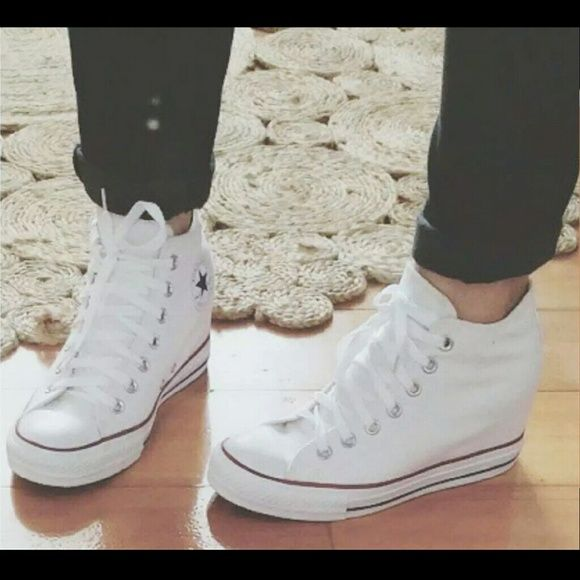 Chuck Taylor All Star Lux Wedge white. Totally using these shoes for my  wedding | Work out | Pinterest | Wedges, Star and Weddings
