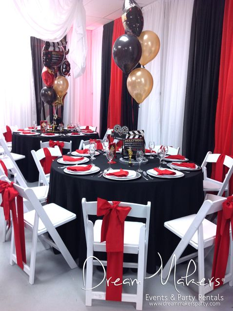 13th Birthday Hollywood Theme | CatchMyParty.com. I would use this for a sweet 16 though.