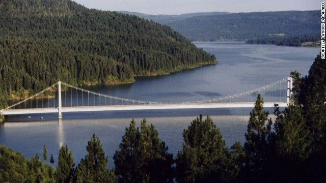 Spanning the globe for scary high bridges idaho the o for Dworshak reservoir fishing
