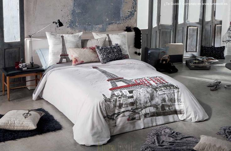 Juego de funda nordica sena con estampado inspirado en - Medidas cama 90 ...