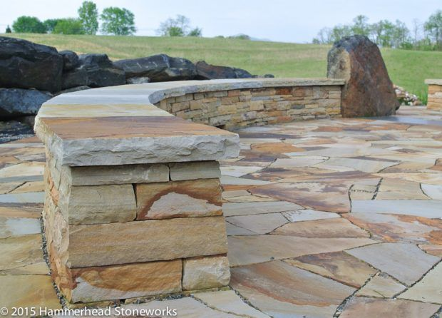 Каменные стены - сидения