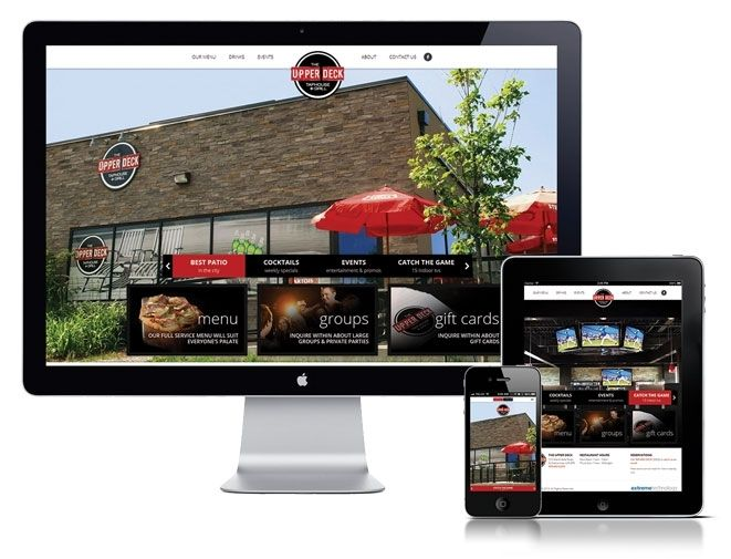 Extreme Technology created a fantastic website for the Upper Deck Grill & Taphouse. Built on a custom CMS, responsive design and full menu online.
