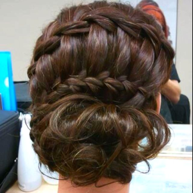 Beautiful bun: Hair Ideas, French Braids, Waterf Braids, Wedding Hair, Bridesmaid Hair, Prom Hair, Hairstyle, Hair Style, Braids Buns