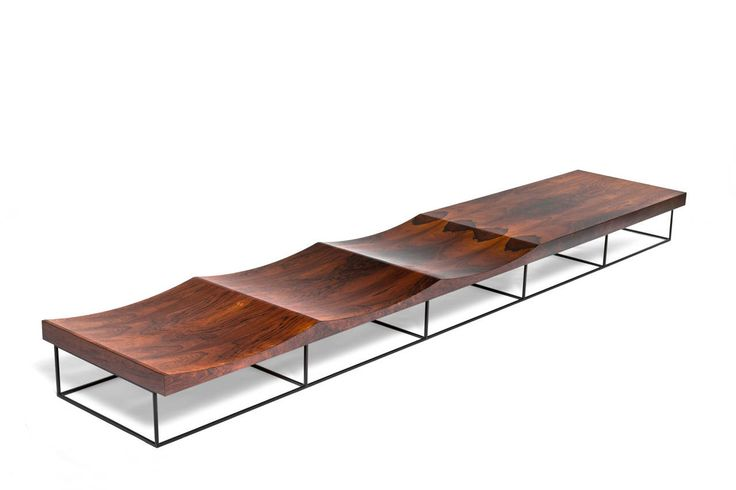 Rosewood Bench by Jorge Zalszupin, Brazil, 1960 | From a unique collection of antique and modern benches at https://www.1stdibs.com/furniture/seating/benches/