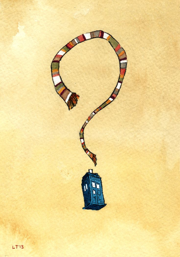 Doctor Who......My cousin Glen would love this illustration hanging on his wall...the best doctor had the scarf and jellybeans :)