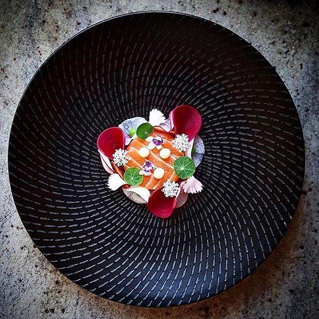 Atlantic salmon, pickled beetroot, radish, heirloom tomato, pea & aioli. ✅ By - @ivin1stbite ✅ #ChefsOfInstagram