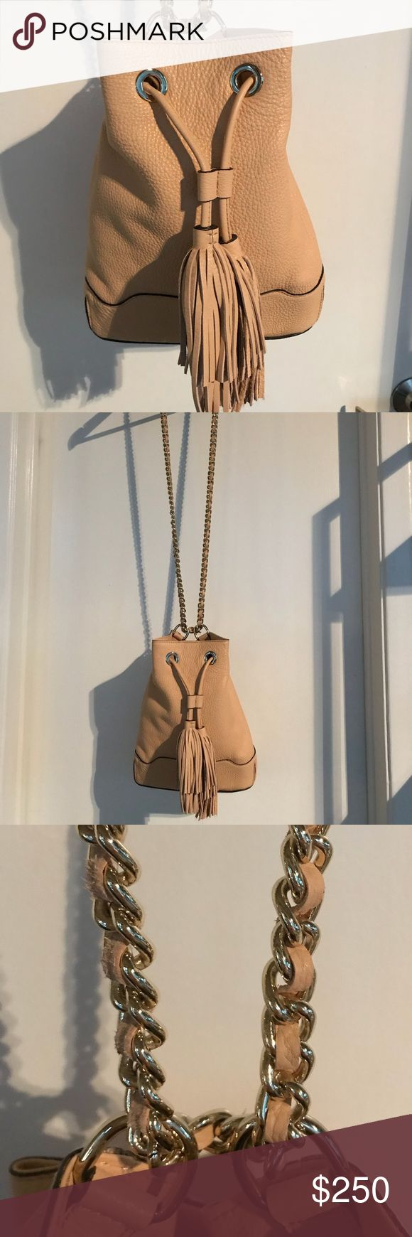 Rebecca Minkoff Large Bucket Bag Never used, no tags. This bag is no longer sold, bought a few years ago but have not even used it once. BLUSH color. Perfect condition. Sold as seen. Rebecca Minkoff Bags Crossbody Bags