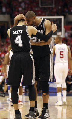Duncan and Green ***Timmy will be Timmy the other pieces have to join in and in the end trophy hoisting to be done in San Antonio